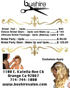 bushire wedding prices